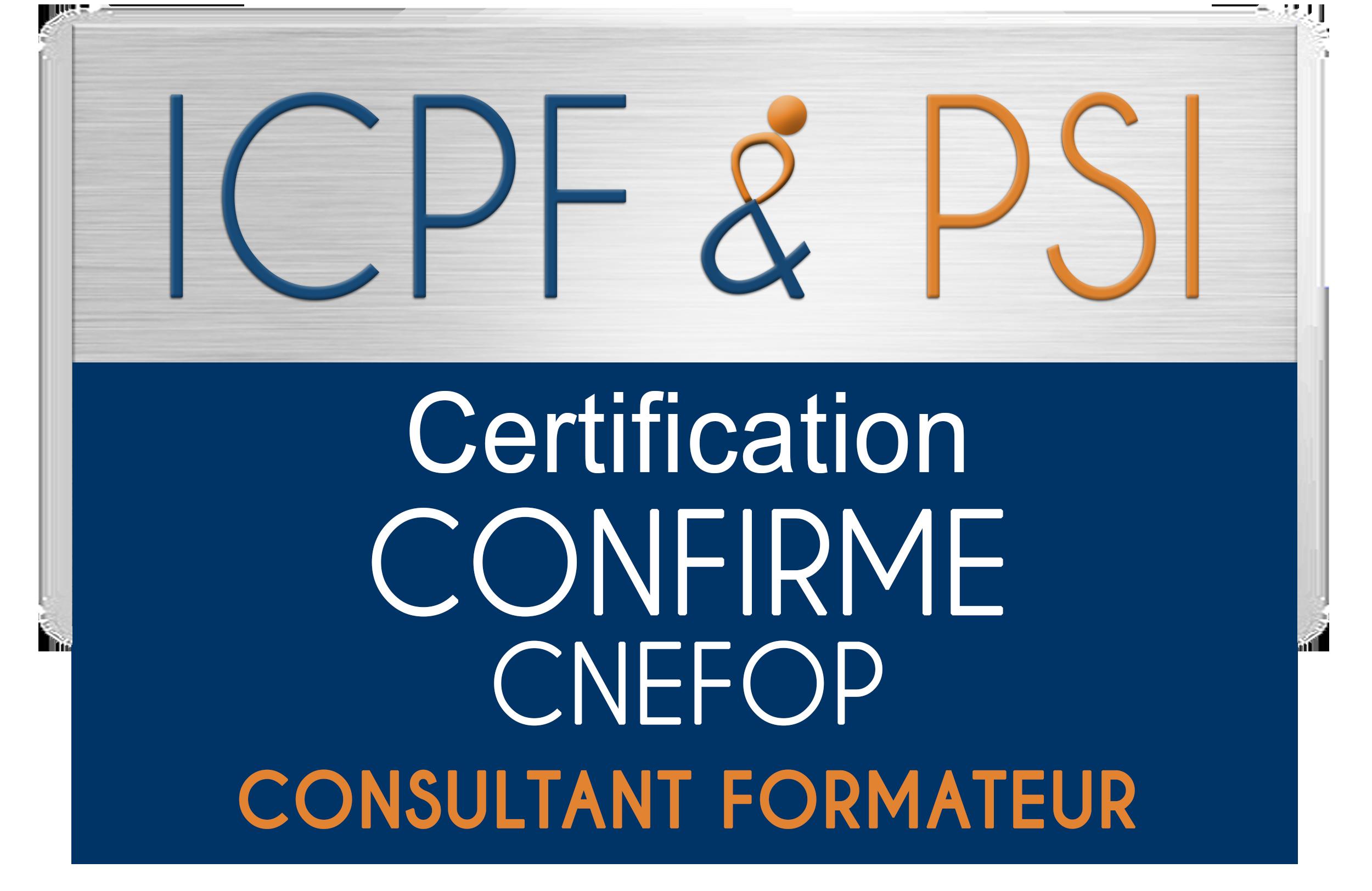 Certification ICPF PSI Consultant Formateur Niveau Confirmé