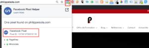 Site Web Pixel de Conversion Facebook