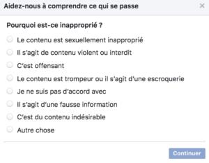 Facebook Signaler Une Publication