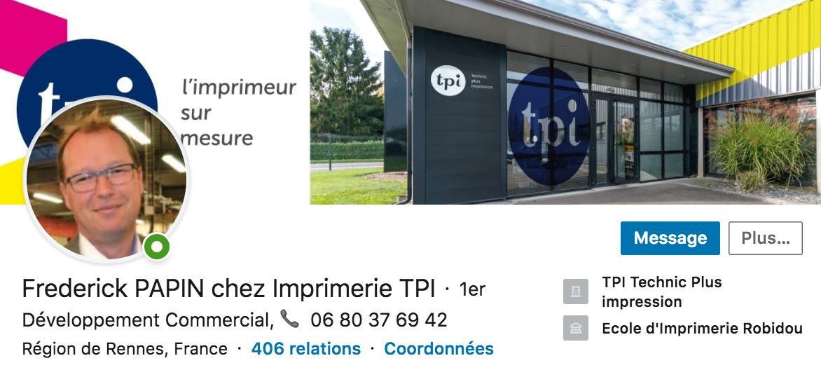 Frédérick Papin Profil Linkedin