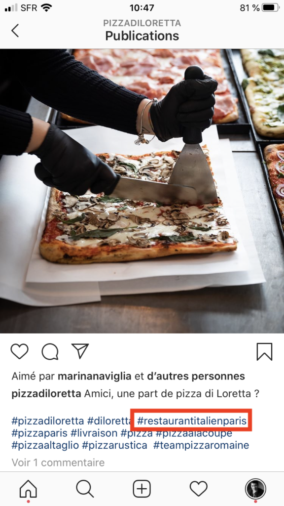 hashtags localisation instagram exemple 1