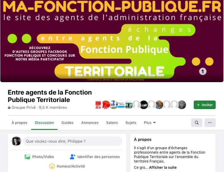 groupe facebook entre agent de la fonction publique territoriale